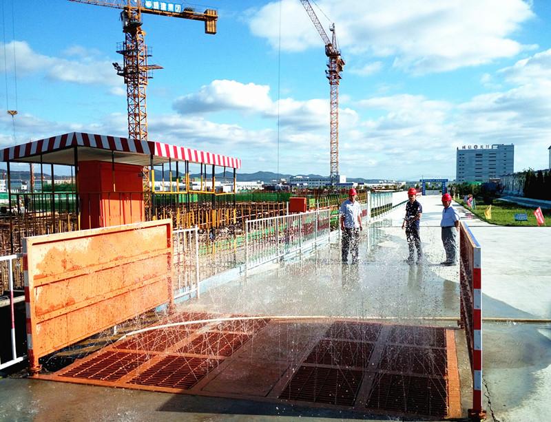 临港区建筑工地安全文明施工和扬尘治理成效显著