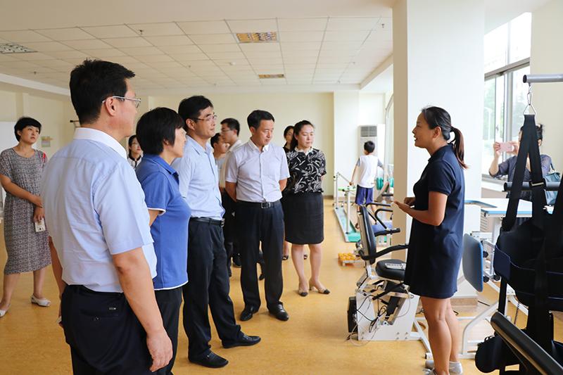 省残联副理事长张文涛同志来我市调研社会组织扶贫助残有关情况